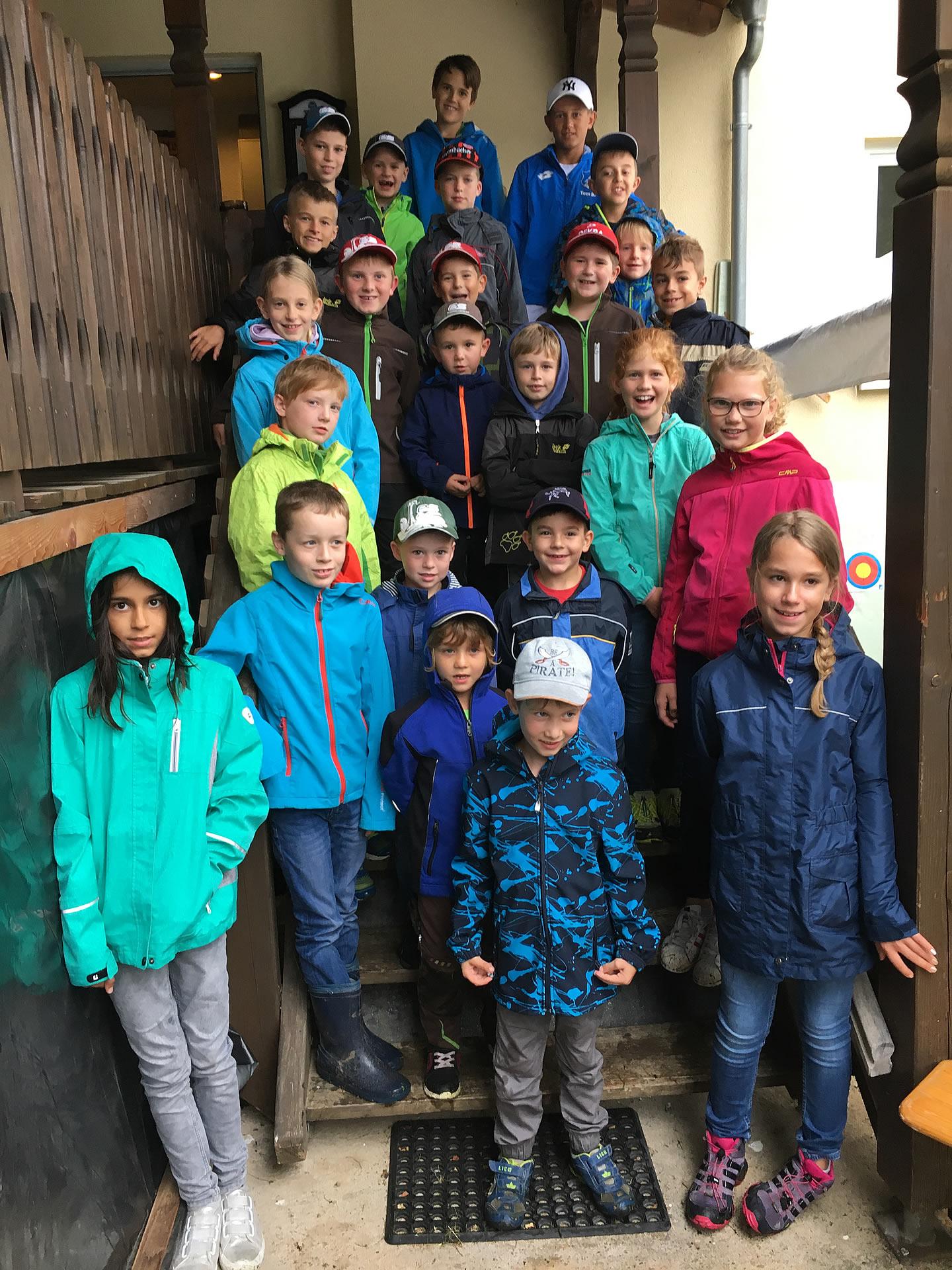 Teilnehmende Kinder bei den Ferienspielen 2017 des SV Watterbach